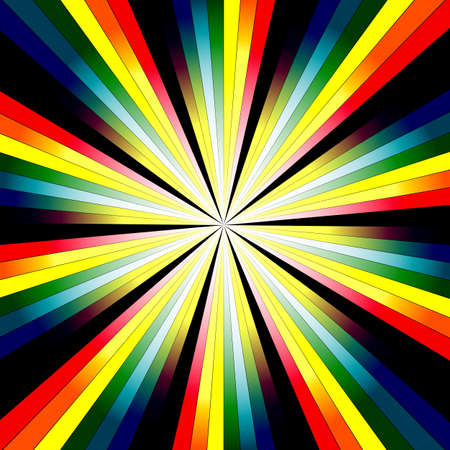 Abstract rainbow  background with rays (vector EPS 10) Vector