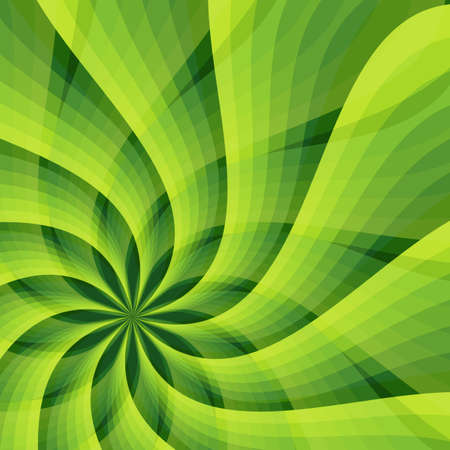 Abstract green background with star-flower Vector