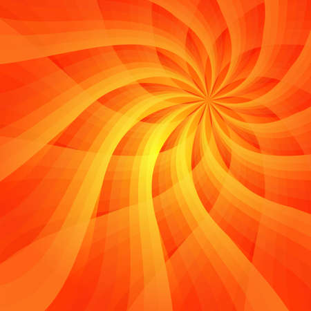 Abstract vivid orange background with sun-flower Vector