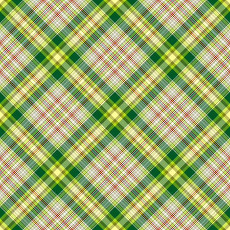 Seamless green and grey checkered diagonal pattern Vector