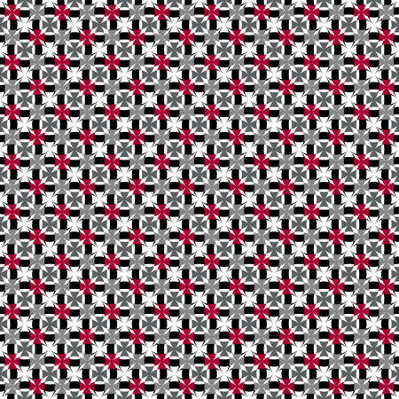 Abstract grey, black, white and red seamless pattern (vector) Stock Vector - 6793535