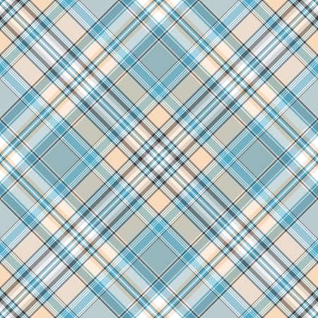 tweed: Seamless gentle blue, pink and white diagonal pattern