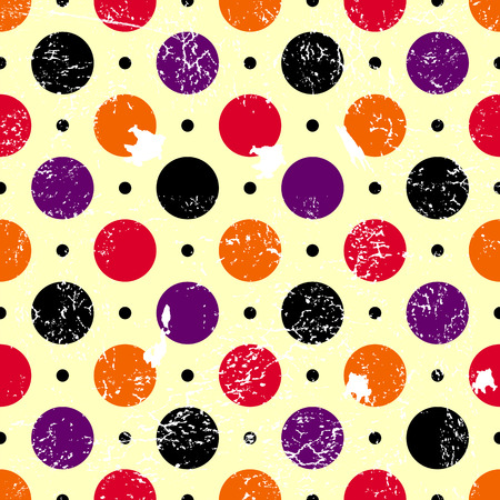 lilas: Abstract seamless grunge pattern with colorful balls Illustration