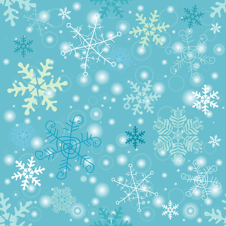 handwork: Seamless pastel christmas pattern with handwork snowflakes Illustration