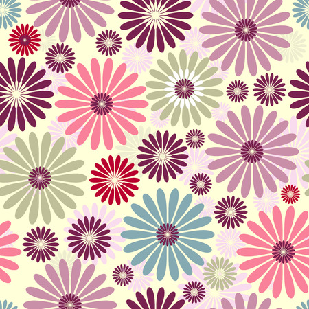 pastel flowers: Seamless floral pastel pattern with colorful flowers