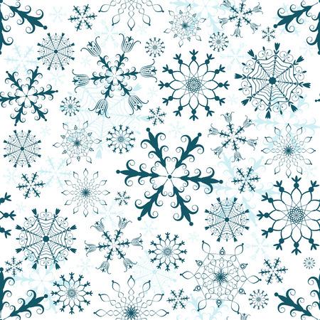 gray pattern: Seamless white, dark blue and blue christmas pattern