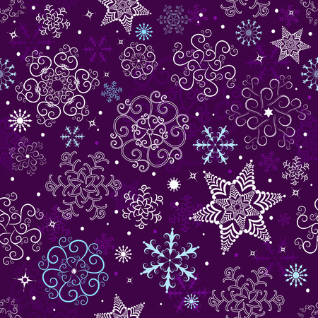whiteblue: Seamless violet and white-blue christmas pattern