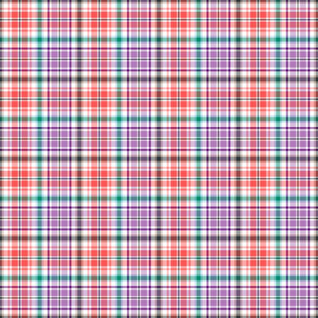 Abstract seamless pink and violet checkered pattern with green lines (vector EPS 10) Vector