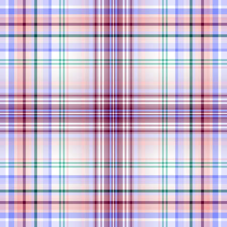 Seamless white-pink-violet-blue checkered pattern Vector