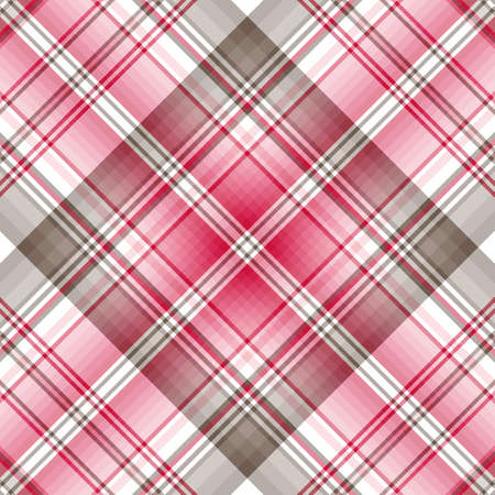 checker: Seamless cross pastel pink-grey diagonal pattern