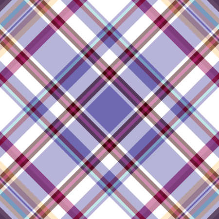 Repeating white-violet-blue checkered diagonal pattern  Vector