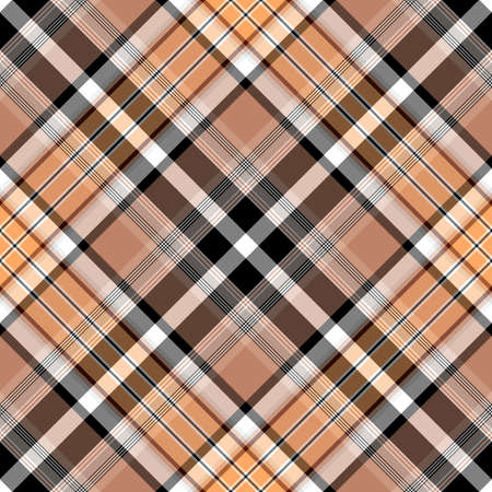 a pink cell: Seamless brown-black-pink checkered diagonal pattern Illustration