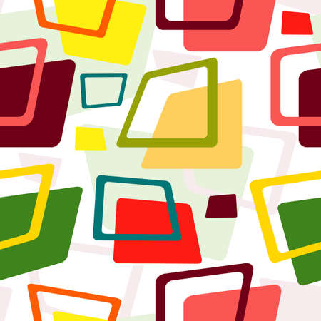 Seamless pattern from the colorful deformed rectangles Vector