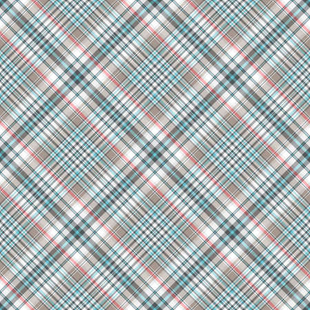 Seamless grey-blue checkered diagonal pattern Vector