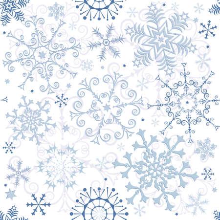 Seamless white-blue pastel christmas pattern Vector
