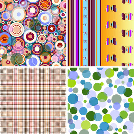 Set colorful geometric seamless patterns  Stock Vector - 7540566