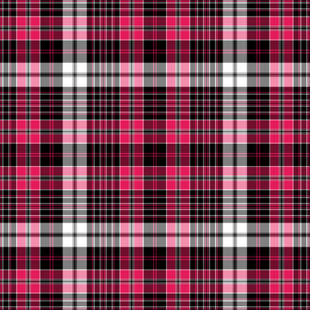 dark gray line: Seamless black-red-white checkered pattern with thin lines (vector EPS 10)