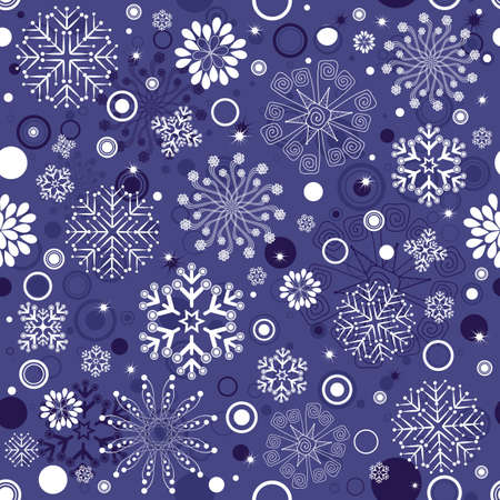 Seamless violet and white christmas pattern (vector) Vector