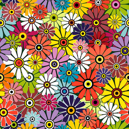 motley: Motley seamless floral vivid pattern