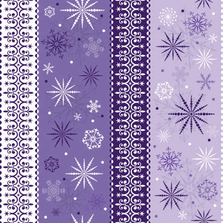 Seamless violet-white striped christmas pattern Vector