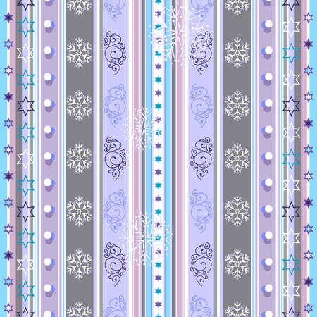 winter wallpaper: Transparente violeta, blanco y azul a rayas patr�n de Navidad con copos de nieve