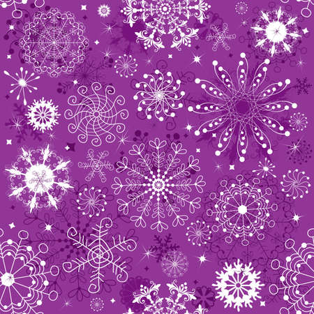 lilas: Repeating violet and white christmas wallpaper