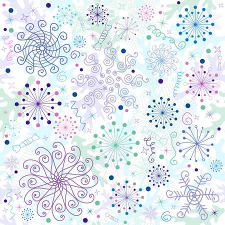 Seamless pastel christmas white wallpaper  Vector