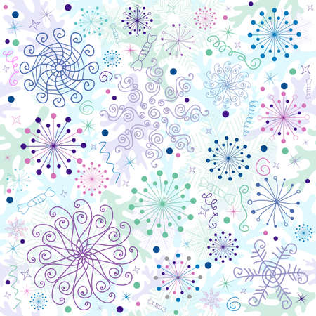 lilas: Seamless pastel christmas white wallpaper  Illustration