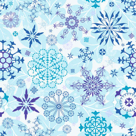 Seamless blue and violet and white christmas wallpaper  Vector
