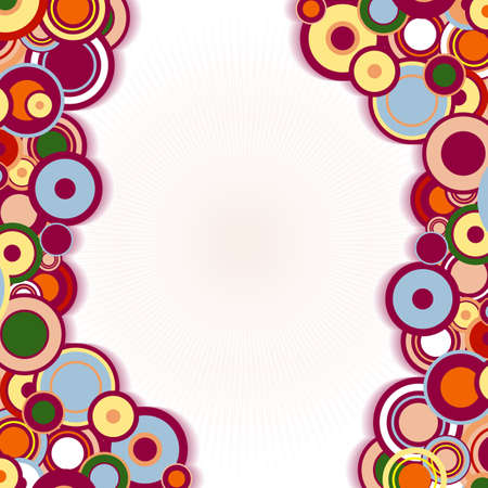 Abstract frame with concentric colorful circles   Vector