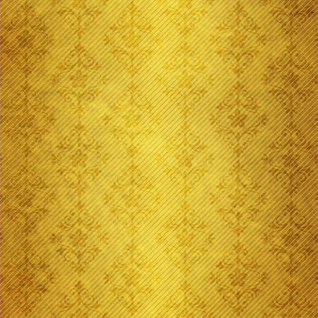 Old dark yellow paper with geometric pattern photo