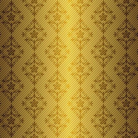 Golden abstract floral seamless pattern (EPS10) Vector