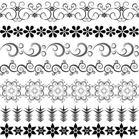 effortless: Black effortless borders at the white background
