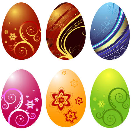 Easter`s eggs  isolated on white background Vector