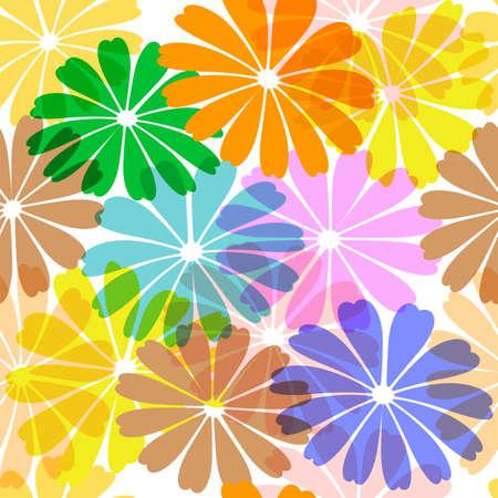 motley: Floral motley seamless vivid pattern (EPS10)