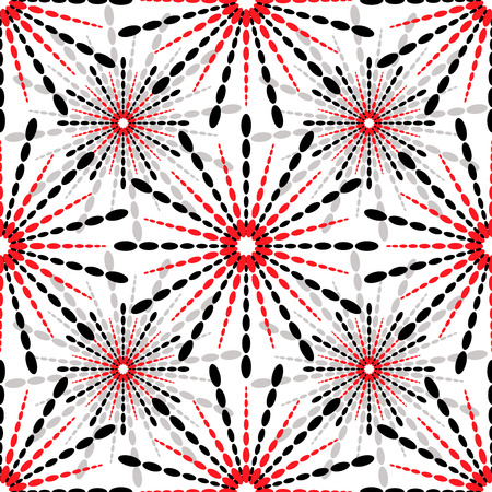 White and grey and red geometric seamless pattern Stock Vector - 8582398