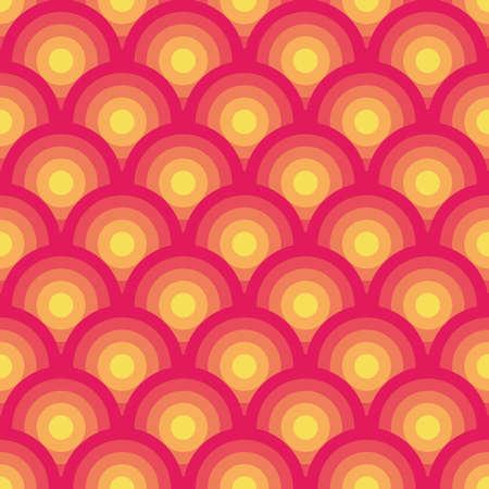 pea: Pink and yellow seamless geometric pattern  Illustration
