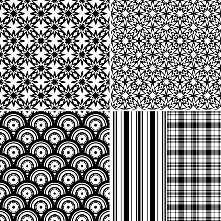 tigrato: Impostare modelli senza soluzione di continuit� di bianco e nero e grigi (vector)