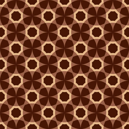 Brown and pink seamless geometric pattern (vector) Vector