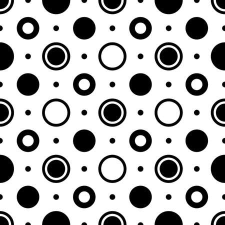 Seamless black and white geometric pattern (vector) Vector