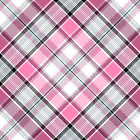 Seamless pink-gray-white cross gentle pattern (vector EPS 10) Vector
