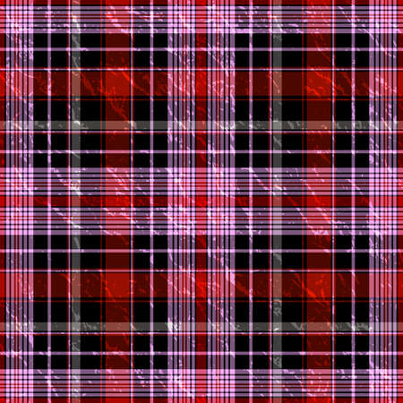 checker: Seamless red-black and pink checkered pattern (vector EPS 10)