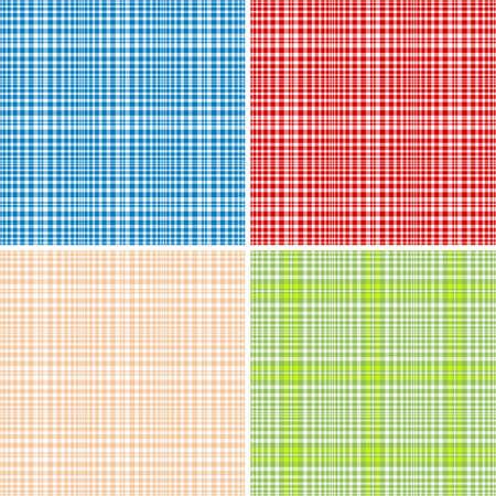 pink cell: Conjunto colorido repetir patrones a cuadros (vector, EPS 10) Vectores