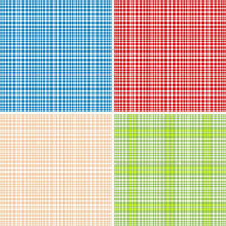 scattering: Set colorful repeating checkered patterns (vector, EPS 10)