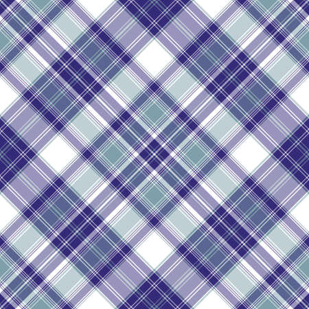 Seamless blue and violet-white diagonal pattern (vector EPS 10) Vector
