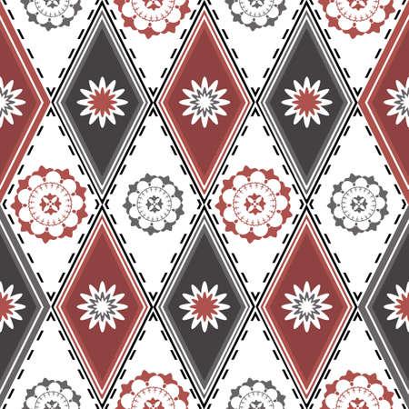 motley: Motivo decorativo da motley pattern di grigio, bianco e rosa rhombusesDecorative con rombi. Una texture senza soluzione di continuit� (vector) Vettoriali