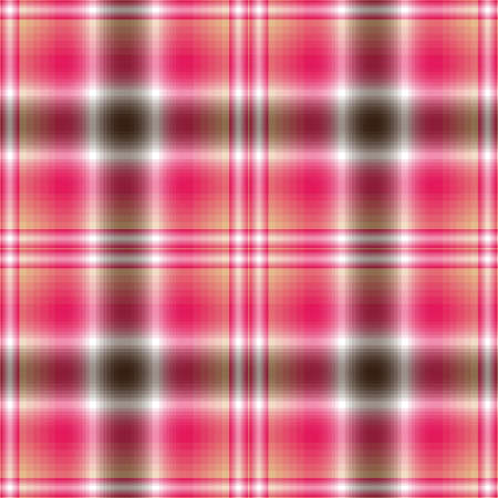 Seamless pink-brown-white checkered pattern  Vector