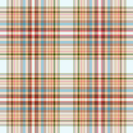 Abstract seamless checkered blue-brown pattern  Vector