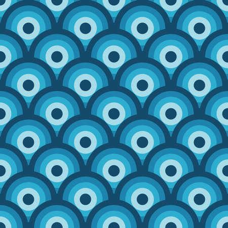 Dark bkue and blue seamless geometric pattern (vector) Vector