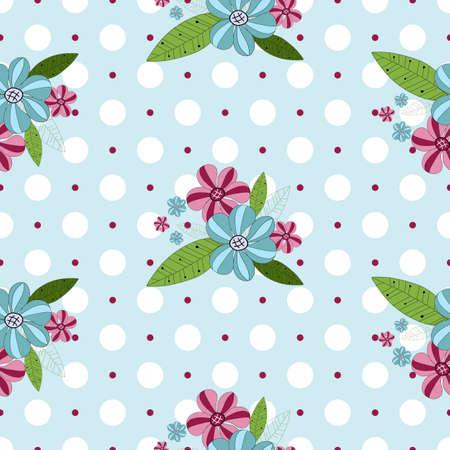 Seamless gentle floral pattern with white peas (vector) Vector